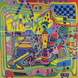 Revolution, Acryl auf Leinwand  60x60cm Februar 2015