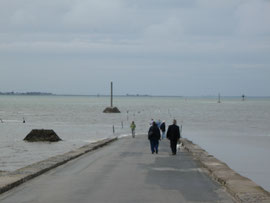 Flut in der Passage du Gois