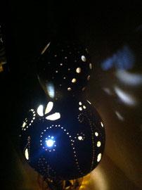 瓢箪ランプ 青