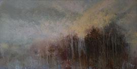 Landschaftsbild, Gemälde Abstrakt. Landschaft 100x50, Öl, Sommer 2018