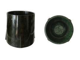 """Eierbecher, Hersteller Dura Company, Logo """"Gadeware"""", England - Höhe 5.3 cm, Durchmesser unten 5.5 cm, oben 4.5 cm"""