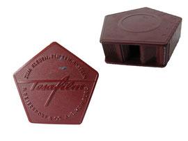 """Tesafilm Abroller, (Hersteller: P. Beiersdorf & Co. AG, Hamburg), """"Tesa"""" wurde 1906 abgeleitet von """"Elisa Tesmer"""", der Kantoristin von Beiersdorf - Länge 6.8. cm, Höhe 2.2 cm"""