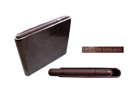 Zigarettenbox, made in England - Breite 10 cm, Höhe 8.5 cm, Tiefe 1.5 cm