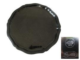 Tablett rund, Chippendale, Micafil 1271, schwarz - Durchmesser  25 cm, Höhe 1.4 cm