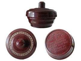 Schwarzkopf Trocken-Schaumpon D.R.P., Hersteller: Hans Schwarzkopf GmbH, Hamburg, 1920er Jahre - Höhe 5.5 cm, Durchmesser 7.5 cm