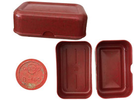 Brotdose, Prägestempel BKP B-150 - Länge 16 cm, Breite 10 cm, Höhe 6 cm