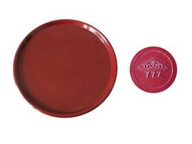 Tablett rund,rot,  OWO 777 - Durchmesser 23.8 cm,  Höhe 1.4 cm