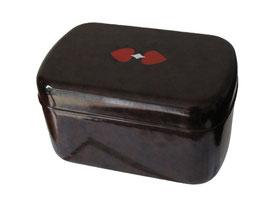 Kaffee Hag Dose, Micafil, 1940, Länge 13.5 cm, Breite 8.5 cm, Höhe 7.5 cm