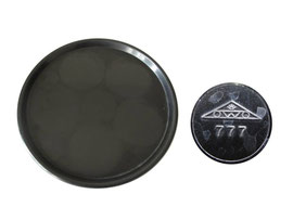 Tablett rund, schwarz, OWO 777 - Durchmesser 23.8 cm,  Höhe 1.4 cm
