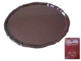 Tablett oval, Chippendale, Micafil 1173 - Länge 41. cm,  Breite 30.8 cm,  Höhe 1.5 cm