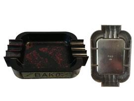 Aschenbecher, Werbung Cafes BAKO / Koffies BAKO - Länge 15.5 cm, Breite 10 cm, Höhe 2.7 cm