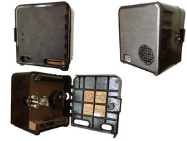 Schmalfilm Projektor Zeiss Ikon Pentacon P8 - Höhe 22.5 cm, Breite 19.5 cm, Tiefe 18 cm