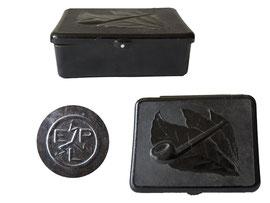 Pfeifentabakdose - Länge 10 cm, Breite 7.2 cm, Höhe 3 cm