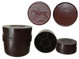 """The Airlok Cigarette Box"" , Hersteller Starlight Ltd. London - Höhe 8 cm, Durchmesser 9 cm"