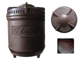 Tabakdose ca 1930, britisch - Höhe 14.5 cm, Durchmesser 11 cm