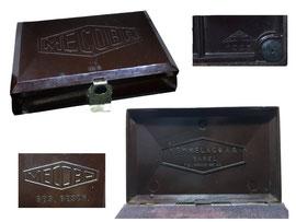 Stempelkissen MECOBA, Memmel & Co. Basel, Hersteller OWO, Schweiz - Länge 12.5 cm, Breite 8 cm, Höhe 3 cm