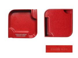 """Aschenbecher,  Suconit 8120, Werbung """"Konsum Genossenschaft Konkordia Sarnen"""", """"SUCONIT"""" ist ein Presstoff der Firma Suhner & Co, Herisau, produziert ab 1928 - Breite/Länge 9 cm,  Höhe 1.4 cm"""