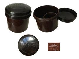 Kleister-/Leimdose OWO 1186/1, 1186/2, Werbung Visca - Höhe 7 cm, Durchmesser unten ca. 6.5 cm