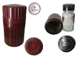 Schutzbehälter für Tintenfass, Feba Füllfedertinte, Dr. Finckh + Co. AG., Schweizerhalle, Basel - Höhe 8.5 cm, Durchmesser 4.5 cm