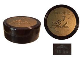 Farbbanddose Graphic Lötscher, Schweiz, Hersteller OWO - Durchmesser 6.8 cm, Höhe 2.5 cm