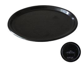 Tablett oval schwarz, OWO 852 - Länge 19.5 cm, Breite 15 cm, Höhe 1.5 cm