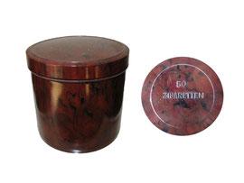 Zigarettendose rund - Höhe 6.8 cm, Durchmesser 6.8 cm