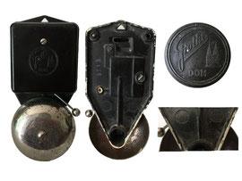 Hausklingel Grothe, Nr. 3300, DBGM - Länge ca 14 cm, Breite 7 cm, Höhe 3.5 cm