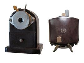 """Spitzmaschine """"Hema Nr. 1b"""" (Hersteller: H. Heinrich, Markkleeberg, DDR) - Breite 8.2 cm, Tiefe 6.2 cm, Höhe 10.8 cm"""