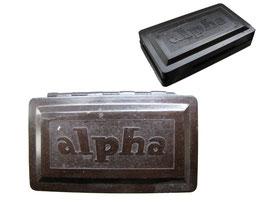 """Stempelkissen """"Alpha"""", Hersteller Strebel, DDR - Länge 10 cm, Breite 6 cm, Höhe 2 cm"""