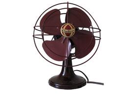 Calor Ventilator 940 Typ 5 Braun (220V) klein, Frankreich, Baujahr ca. 1950 - Breite 18 cm, Tiefe 11,5 cm, Höhe 22,5 cm