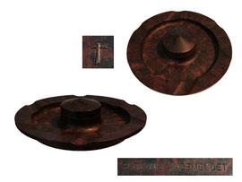 Aschenbecher, Schweiz - Durchmesser ca. 15 cm, Höhe ca. 3 cm