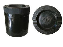 ZIgarettendose kombiniert mit Aschenbecher, Sultan Auslese Nr. 8, Aurelia Dresden - Höhe 8 cm, Durchmesser 7 cm