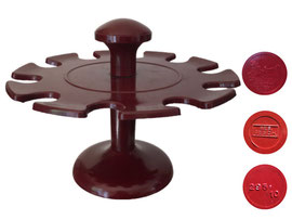 Halter für 10 Stempel, Helit - Höhe ca. 11.5 cm, Durchmesser oben 15.5 cm