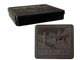 """Zigarettenschachtel """"Derby 1863"""" - Länge 11.5 cm, Breite 10 cm, Höhe 2 cm"""