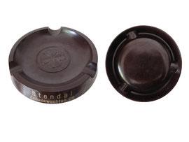 """Aschenbecher, Werbung """"Zigarren-Geschäft Stendal, Schadewachten 26"""" - Durchmesser unten 10.5 cm, Höhe 1.7 cm"""
