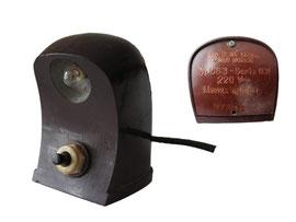 Nählicht Typ US3- Serie 001 220 Volt, MTS-HS , Ceska Lipa CKD Zwod horice, tschechisch - Höhe 8.5 cm