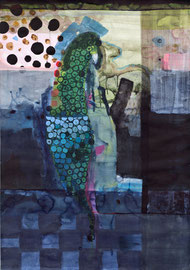 O.T., 2014, Malerei auf Papier, 86 x 121 cm