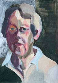 Porträt, 2011, Malerei auf Papier, 31 x 43 cm