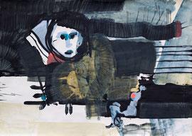 O. T., 2012, Malerei auf Papier, 86 x 62 cm