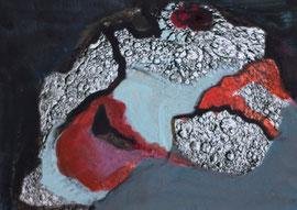 O. T., 2012, Übermalung auf Papier, 15 x 10 cm
