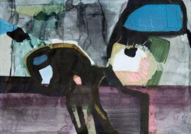 O. T., 2012, Malerei auf Papier, 100 x 70 cm
