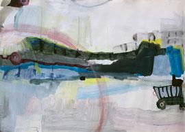 Lesconil II, 2013, Malereri auf Papier, 121 x 86 cm