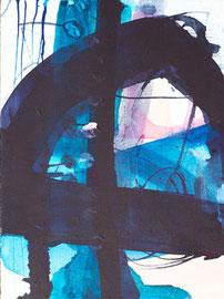 O.T., Malerei auf Platte, 18 x 24 cm