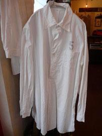 ●DEADSTOCK スウェーデン軍 グランパシャツ ( ステンシル 5 ) ¥4200  thanks sold