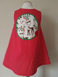 Achter: Hertjes, so cute katoenen jurkje. Artikelcode 92-069.