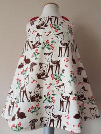 Voor: Hertjes, so cute katoenen jurkje. Artikelcode 92-069. Prijs: 32,95 excl. verzendkosten.