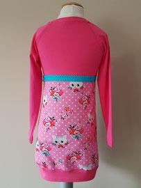 Achter: Poezenkop roze, jurkje van tricot. Artikelcode 98/104-050.