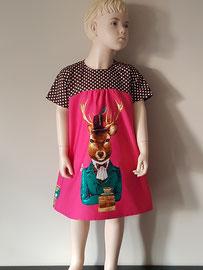 Voor: Hert, so cute katoenen jurkje. Artikelcode 116-020. Prijs 37,95 excl. verzendkosten.