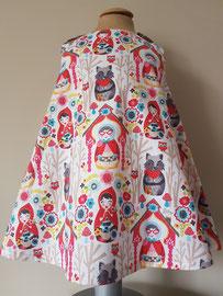 Voor: Roodkapje, so cute katoenen jurkje. Artikelcode 86-077. Prijs 32,95 excl. verzendkosten.