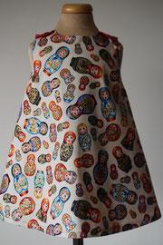 Voor: Hello Baboeska, katoenen jurkje met een beetje blingbling. Artikelcode 86-067. Prijs 32,95 excl. verzendkosten.